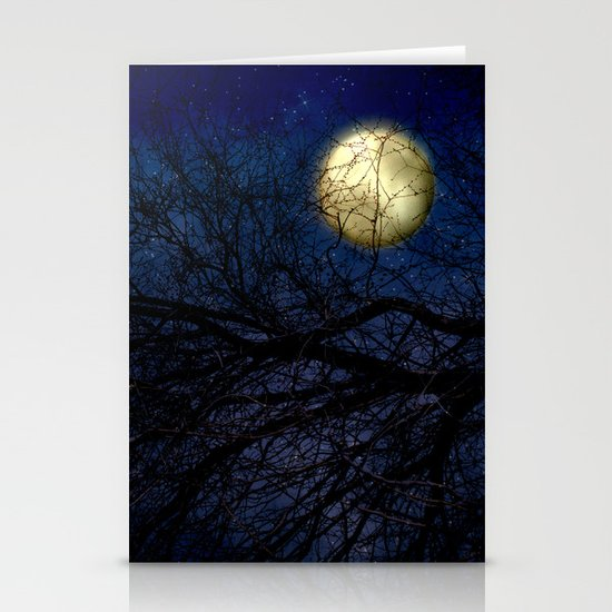 Blue Moon Stationery Card