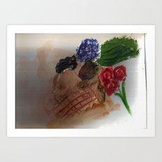 Gesso Scan Art Print
