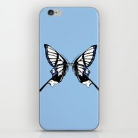 Mirror Butterfly iPhone & iPod Skin