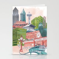 A Pleasant Day In Seattl… Stationery Cards