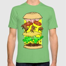 UFO Burger Mens Fitted Tee Grass SMALL