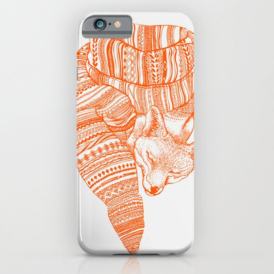 FOX IN THE SNOW iPhone & iPod Case