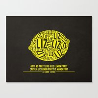 30 Rock - Liz Lemon Canvas Print