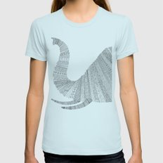 Elephant Womens Fitted Tee Light Blue SMALL