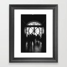PARIS IV - CLOCK Framed Art Print