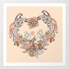 out heart Art Print