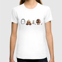 Make the Unlikeliest of Friends, Wherever You Go 2 Womens Fitted Tee White SMALL