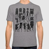 Bump in the Night Mens Fitted Tee Tri-Grey SMALL