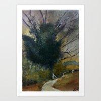 English Tree Study Art Print