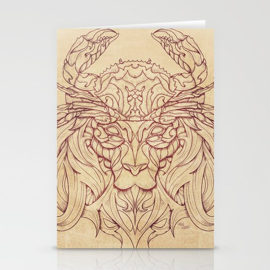 Lion Crab Stationery Card