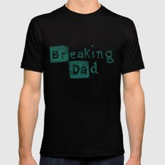 Breaking Dad SMALL Black Mens Fitted Tee