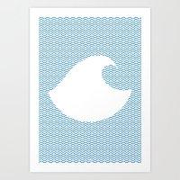 Wavy Wave Art Print