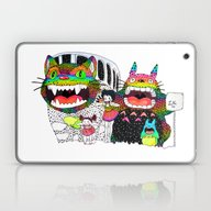 Laptop & iPad Skin featuring Totoro Fan Art (cat Bus)… by Luna Portnoi