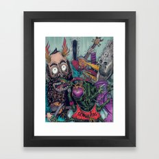 Sid Squish and the Death Collectors Framed Art Print