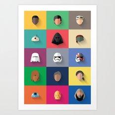 Force Awakens Flat Desig… Art Print