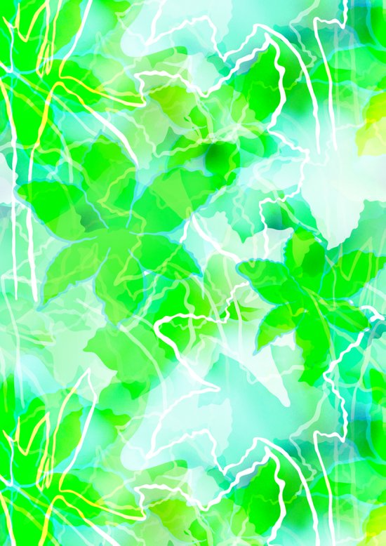 Tropical green Art Print