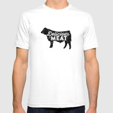 Delicious Meat Mens Fitted Tee White SMALL