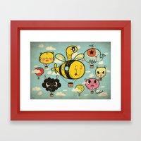 飞行者 HapPig Flight/… Framed Art Print