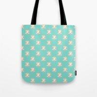 Flamingo tea Tote Bag