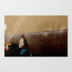 fight to survive. Canvas Print