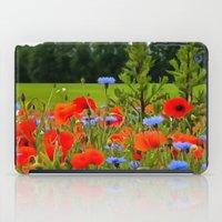 Poppies And Cornflowers iPad Case
