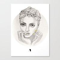 MY FAIR BRAIDY // CIRCLE Canvas Print