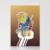 Rocket Bot Stationery Cards