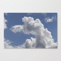 Snoopy Cloud Canvas Print