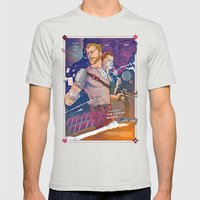 GALACTIC GAMBLE Mens Fitted Tee Silver SMALL