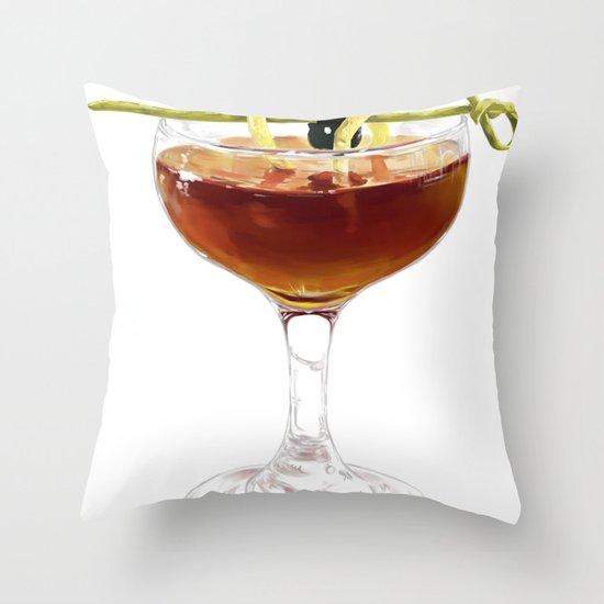 Game Set Match cocktail Throw Pillow