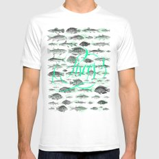 Pisces SMALL White Mens Fitted Tee