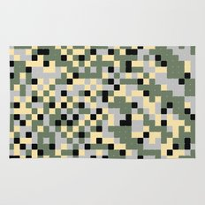 Pixelated Camo Pattern Rug