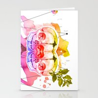 dead twins Stationery Cards