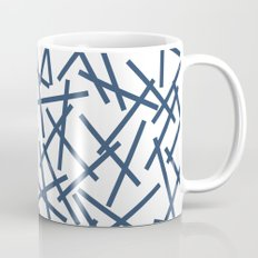 Kerplunk Repeat Navy on White Mug