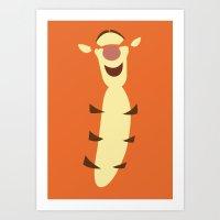 Winnie The Pooh - Tigger Art Print