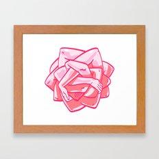 Hand Rose Framed Art Print