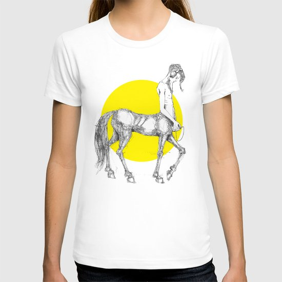 Young centaur with headphones and mp3 player T-shirt