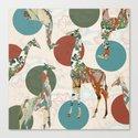 Giraffe Polka Canvas Print