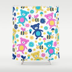 Bee And Bear Children's … Shower Curtain