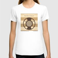 No055 My O Brother Where Art Thou minimal movie poster Womens Fitted Tee White SMALL