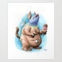 Glarglarac Loves His Ice Cream Art Print