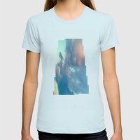 Cloudscape VI Womens Fitted Tee Light Blue SMALL