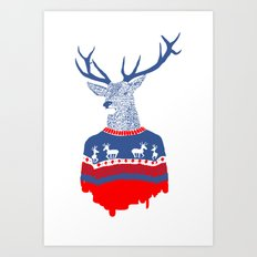 Ugly winter pulover Art Print