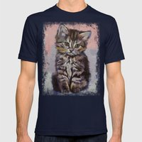 Kitten Mens Fitted Tee Navy SMALL
