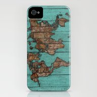 Wood Map iPhone (4, 4s) Slim Case