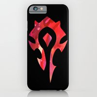 iPhone Cases featuring World of Warcraft Horde  by foreverwars