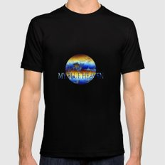 ABSTRACT - My blue heaven Black Mens Fitted Tee SMALL