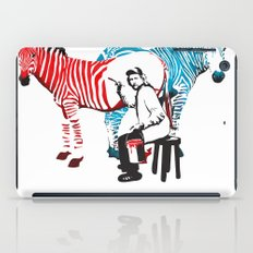 Zebra Painter print iPad Case