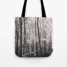 Deep in Woodland - Black and White Collection Tote Bag