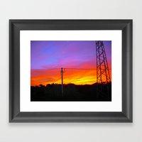 Sunset from my house Framed Art Print